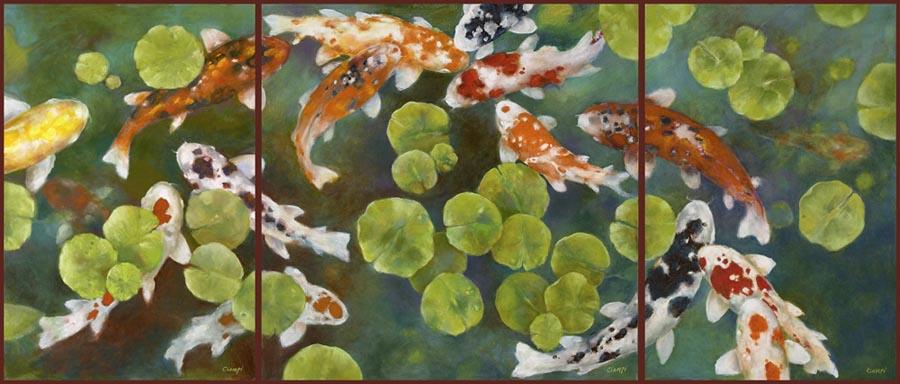 Fine Art Print Editions Of Koi Ponds Lilies And Lotus